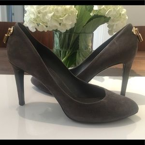 Louis Vuitton Suede Oh Really Pumps Grey Size 9